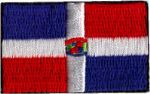 Dominican Republic Embroidered Flag Patch, style small (discontinued).